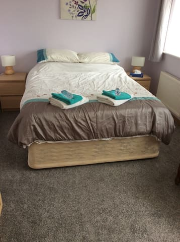 King size bed in family home