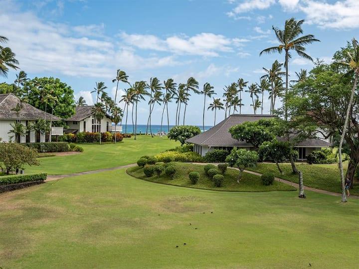 Stay In Upgraded Style! Ocean View Lanai, Kitchen, WiFi, Flat Screen TVs+More–Kiahuna 2136