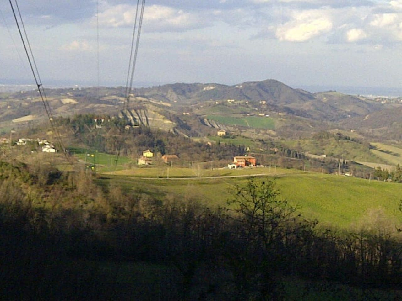 Bazziganta overlooking the Colli Bolognesi towards the Po Valley