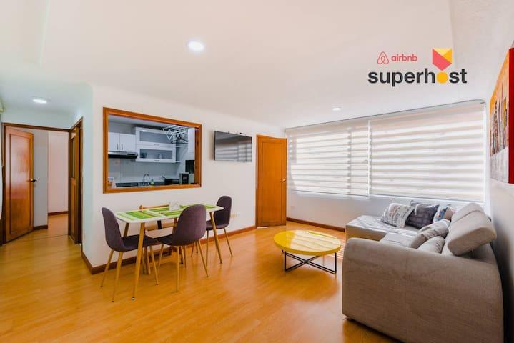 Modern spacious Apartment near Unicentro & Usaquen