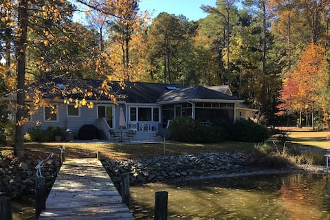 House with pool on Barnes Creek near Fleets Bay