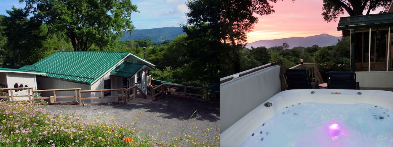 MOUNTAIN VIEW/HOT TUB/PRIVATE/RUSTIC RETREAT