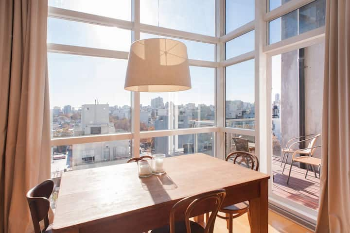 Luxury loft + great view + amenities - Palermo