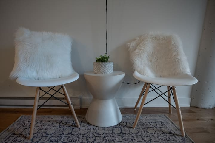 Chairs with Faux Fur.