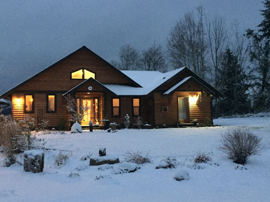My home with a sprinkling of snow. Magical!