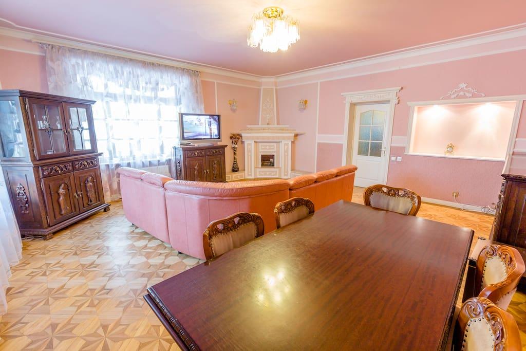 Living-Room Sofa Unfolds