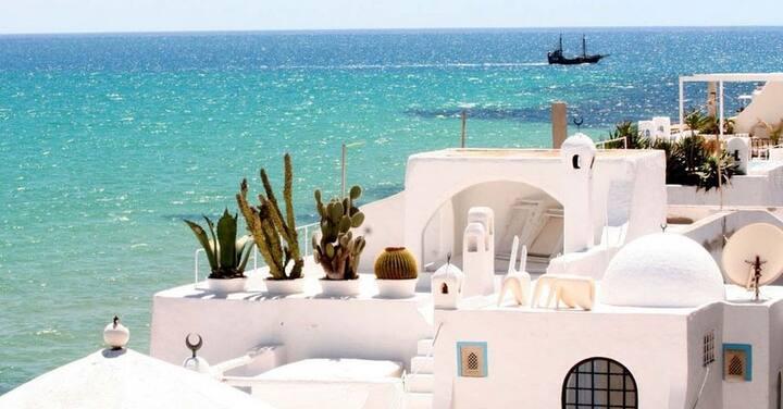 sea side Holiday rental in Hammamet center Tunisia