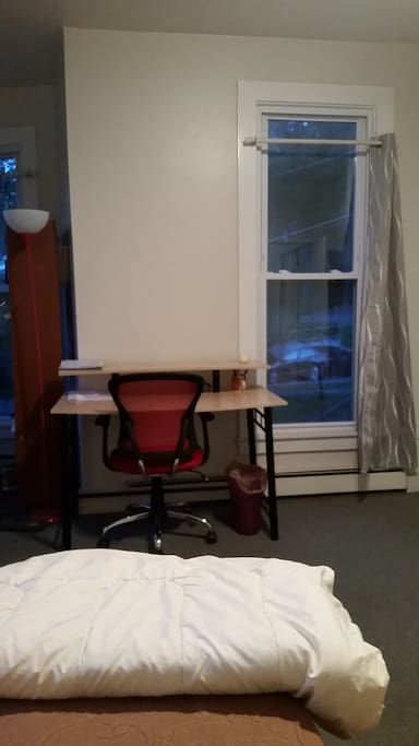 And the room has a desk!