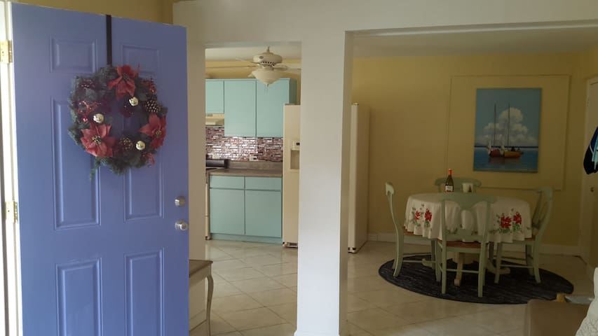 Entry in family room