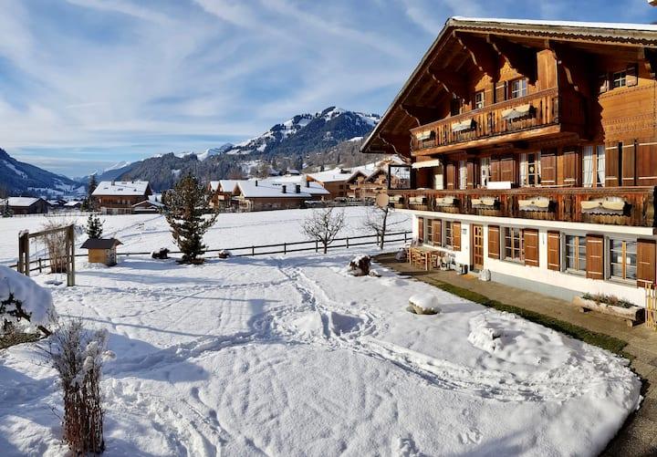 Zentrale 3,5 Zimmer-Wohnung in Saanen bei Gstaad