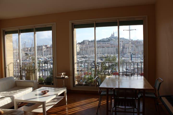 Vue imprenable sur le Vieux-Port - Marseille - Bed & Breakfast