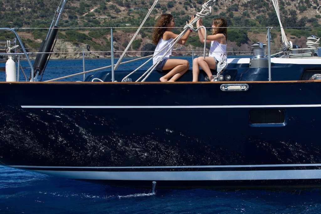 Plenty of outdoor spaces enjoying the water surrounding the yacht