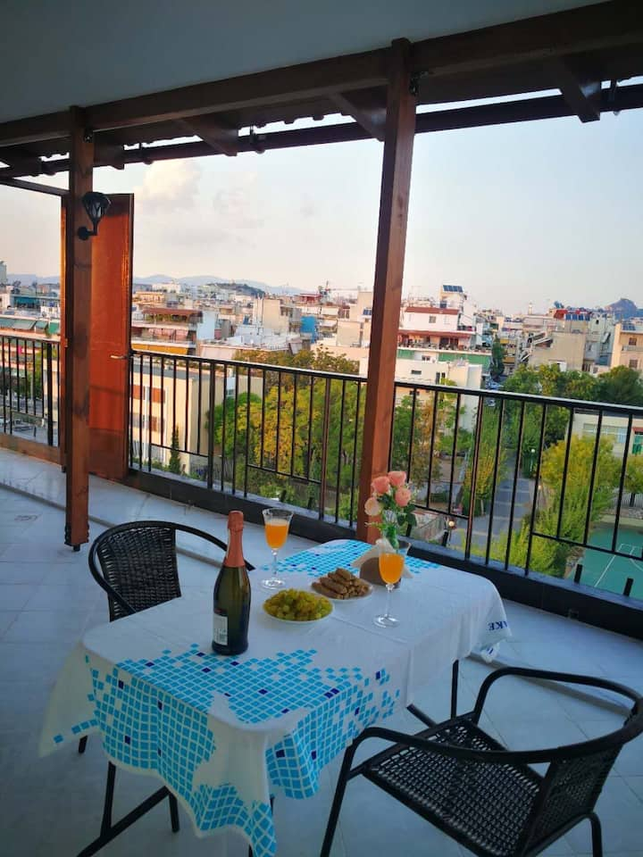 Best Ever View Apartment in Athens
