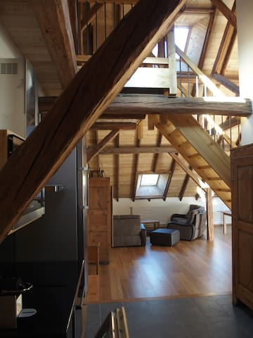 Loft in a traditionnal barn