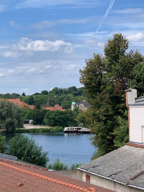Dachwohnung mit Wasserblick auf der Insel