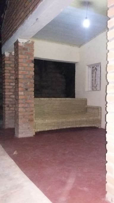 That is my veranda fitted with a comfortable African couch...again another place for some working/relaxing moments