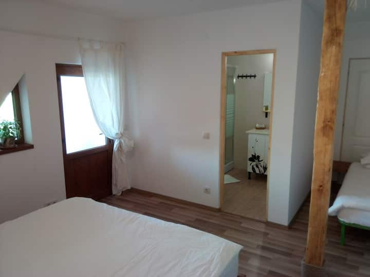 Nice double/triple room with private bathroom