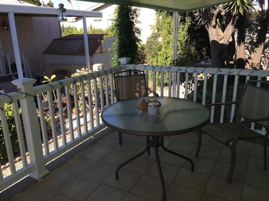 Patio to eat or relax on