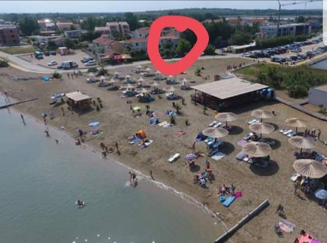 Apartman directly on the beach
