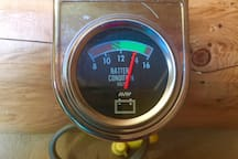 Cabin solar charge meter