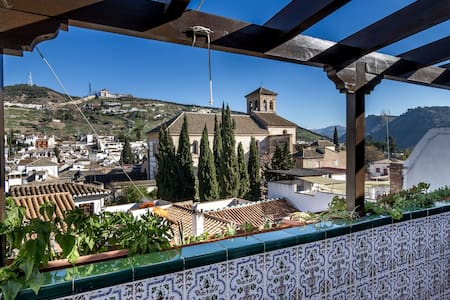 Apt. en Albaycin, terraza y vistas al Sacromonte - Granada - Lejlighed