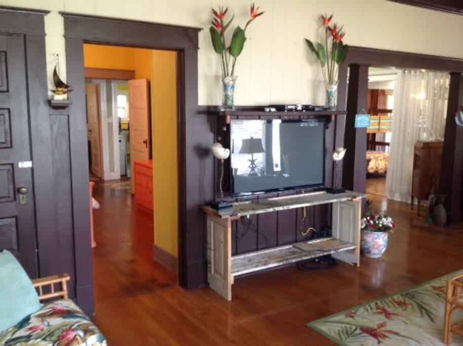 living room from the left corner