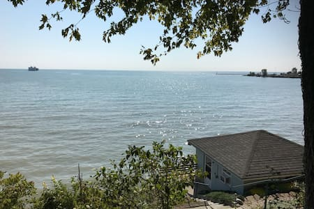 Small lake house on Lake Erie shore