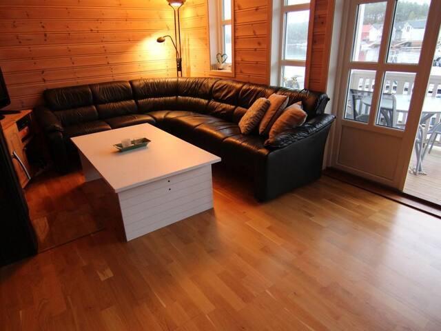 Livingroom with fireplace.