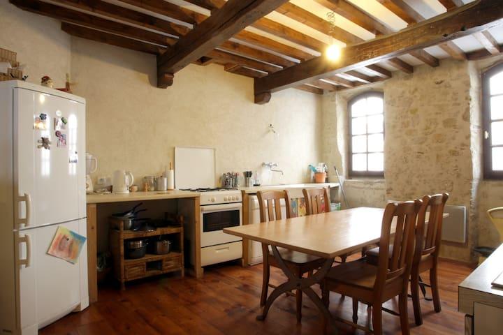 grande maison de village cathare - Laurac