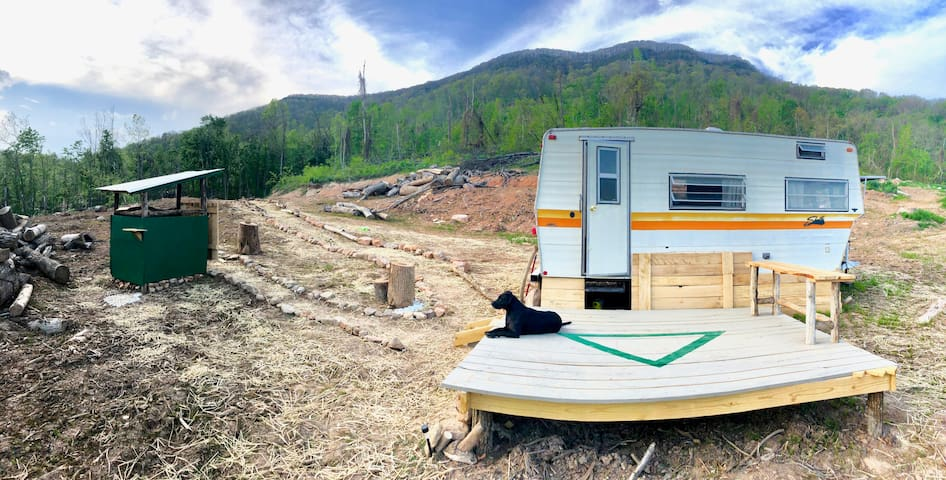 Mt top perched off grid camper/private campground