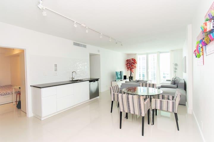 Living area - open kitchen concept