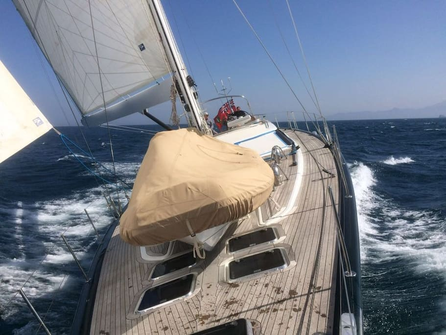 Excellent rates to hire a sailing boat with crew.