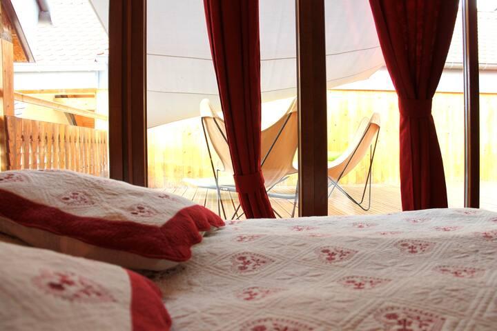 Mini loft ( 2/4 personnes ), 1 chambre
