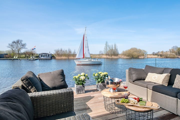 Very spacious 8-person holiday home in Friesland with three bedrooms
