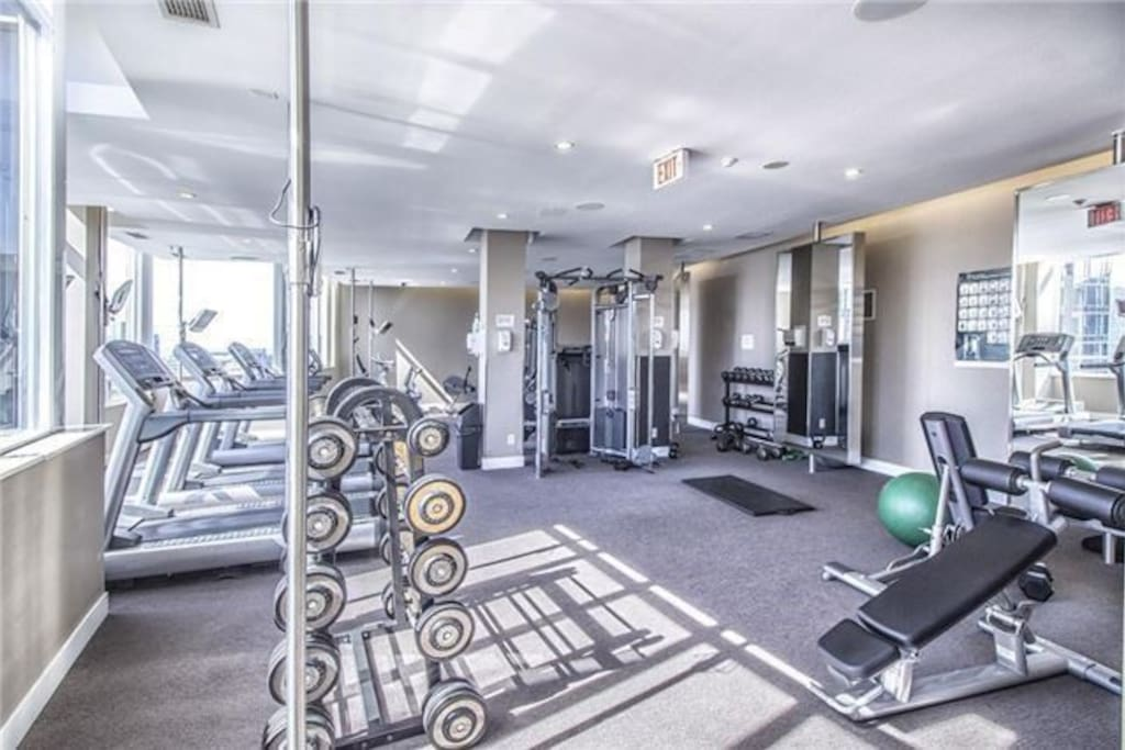 Gym amenities rivaling most private clubs