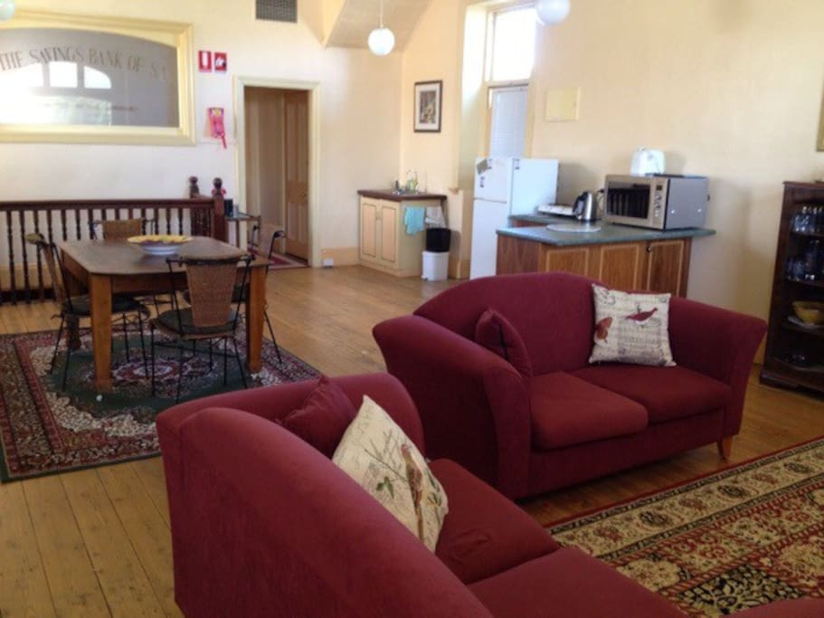 Stay in a bank built in 1895 in quorn south australia australia - Bank kitchenette ...