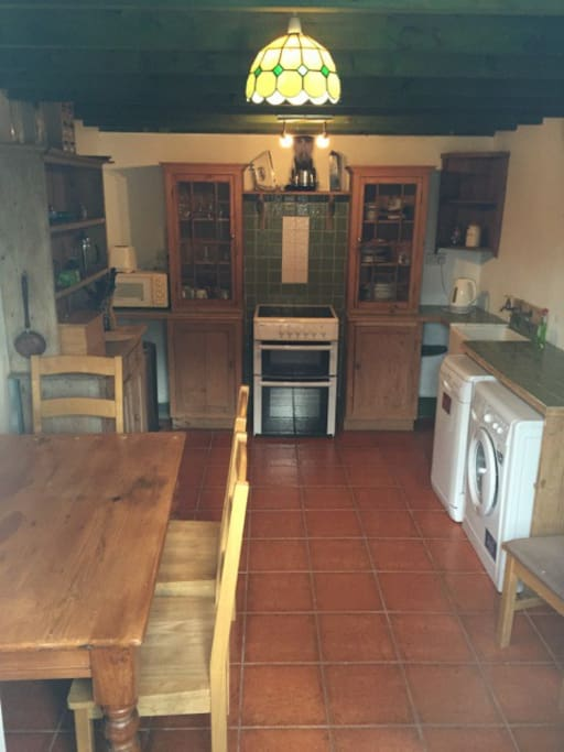 Enjoy the freedom of self catering in our fully equipped kitchen with dishwasher and washing machine