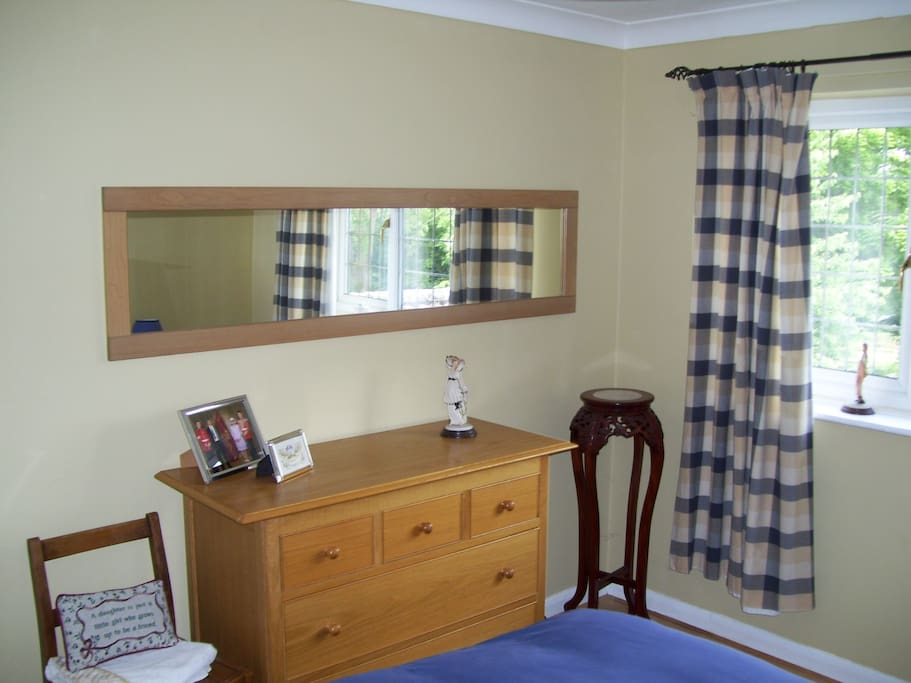 Clean spacious accommodation with all necessary furniture. Outside views overlooking beautiful established gardens.