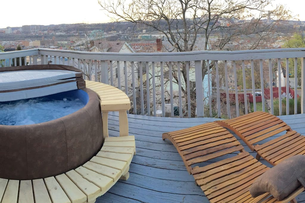 New tub deck and loungers