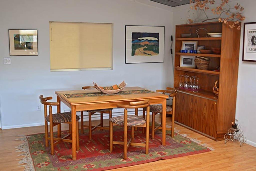 spacious studio apartment with doors to deck and studio below