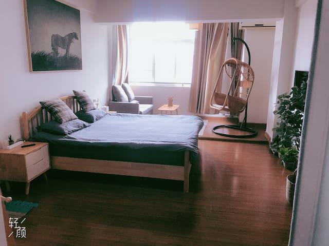 衢州学院日系简约风公寓邻近西区大草原吾悦广场