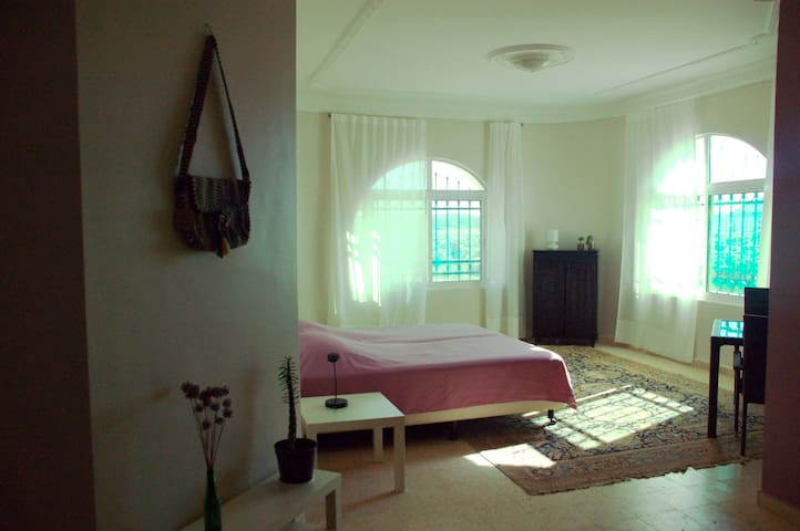 Spacious light (family)room with view and terrace. - wadi mousa - Bed & Breakfast