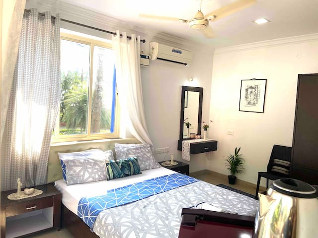 Comfortable deluxe room with a stunning sea view.