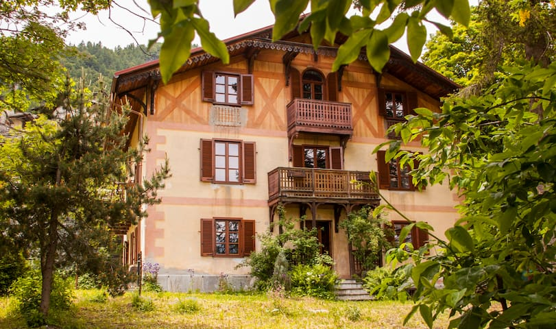 Mansarda montagna in villa d'epoca - Balme - Apartment