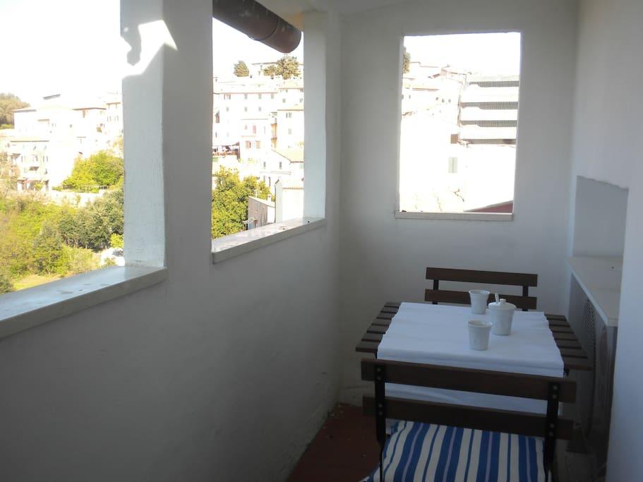balconcino con vista