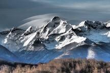 Mont Valier du gite en hiver