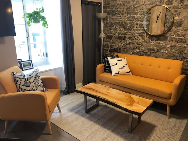 Condo rénové en 2019 Vieux Québec (2c.à.c)
