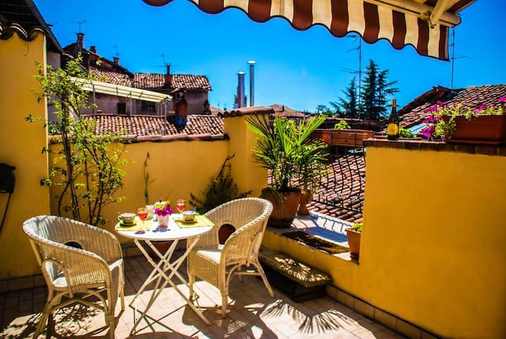 casa sui tetti nel storico Principato di Masserano