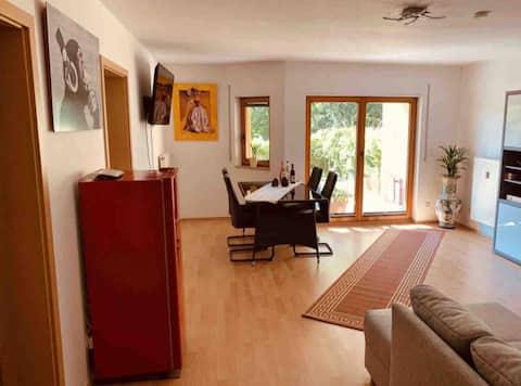 Ruhige Wohnung mit Terrasse direkt an der Saale
