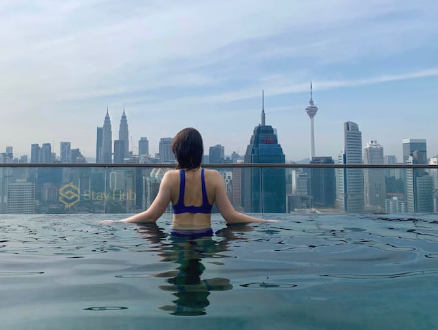 Z2 Home Sharing breathtaking KLCC Sky Pool 无边泳池